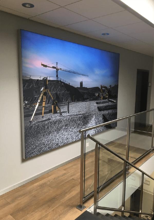 Visuel imprimé et rétroéclairé sur toile sans PVC
