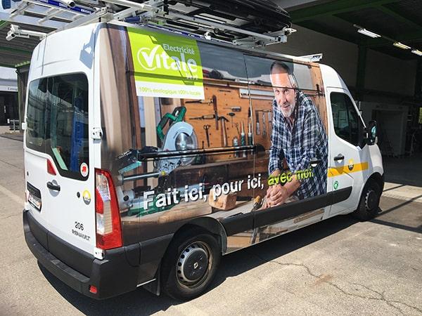 Publicité véhicule utilitaire