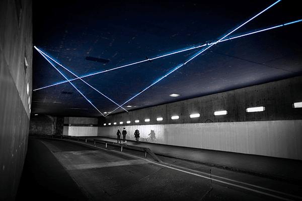 Tube Néon, oeuvre artistique